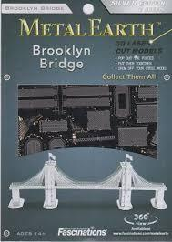 MAQUETTE METAL EARTH BROOKLYN BRIDGE MMS048