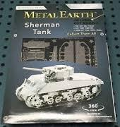 MAQUETTE METAL EARTH SHERMAN TANK REF MMS204