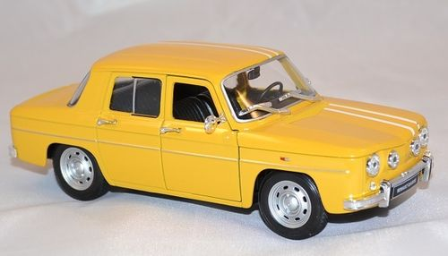 VOITURE RENAULT 8 GORDINI JAUNE WELLY ECHELLE 1/24