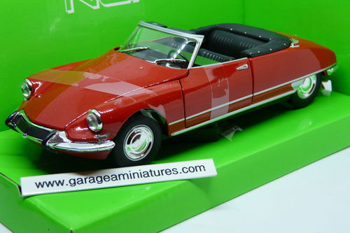 CITROEN DS19 CABRIOLET DECOUVRABLE WELLY ECHELLE 1/24