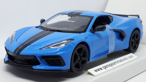 CHEVROLET CORVETTE STINGRAY COUPE Z51 MAISTO BLEUE ECHELLE AU 1/24 EME